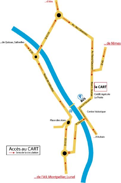 Plan d'accès et sens de circulation Ethic étapes le Cart