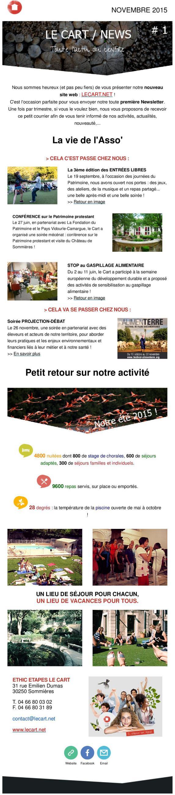 Newsletter Le Cart #1