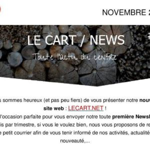 Newsletter le Cart Novembre 2015