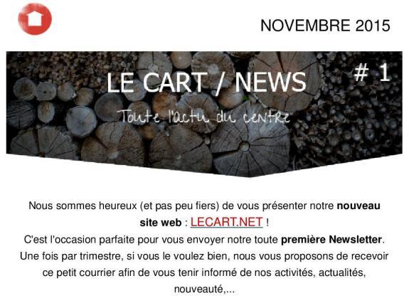 Newsletter le Cart Novembre 2015