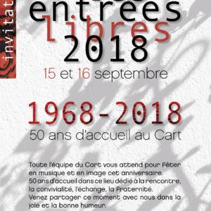 Invitation Entrées Libres 2018 - Le Cart